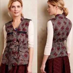 Anthro. Elevenses Geo Safari Print Vest - XS